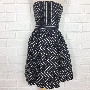 ANTHRO NADIA NOUR striped strapless dress 10